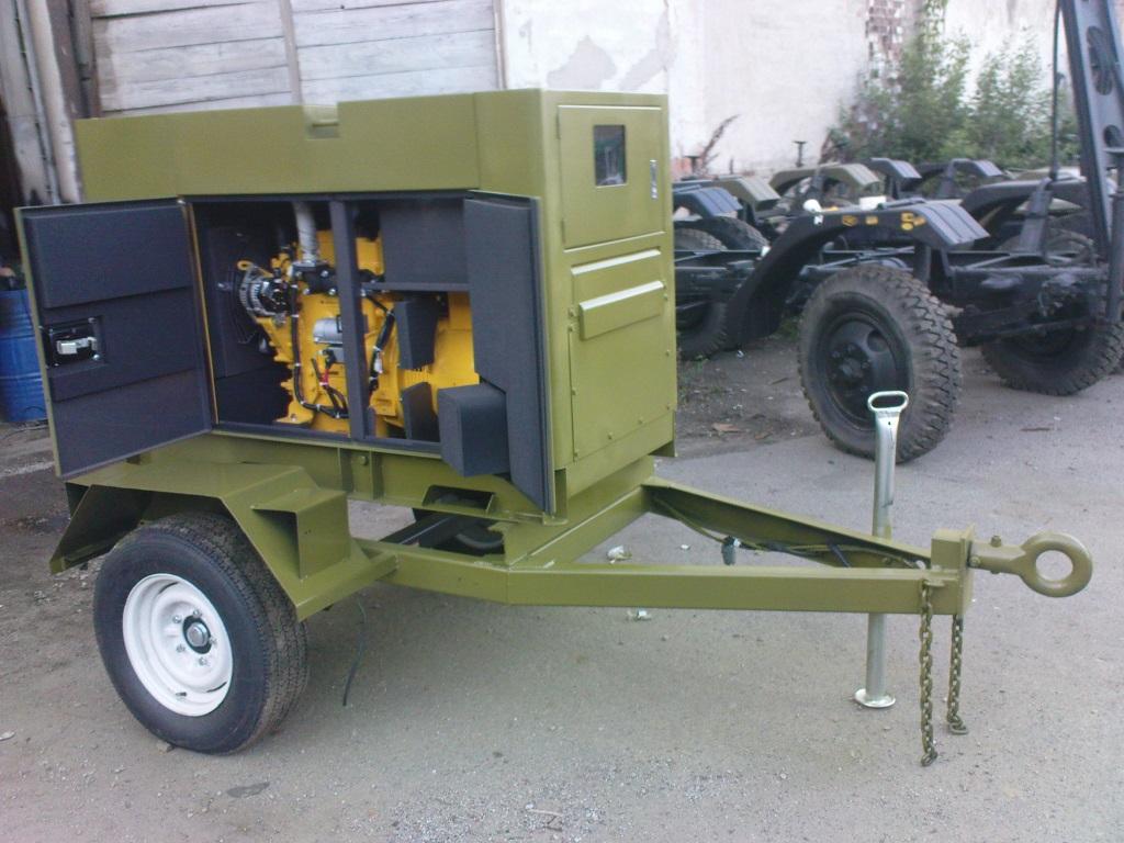 Электростанция Kipor на шасси для военных